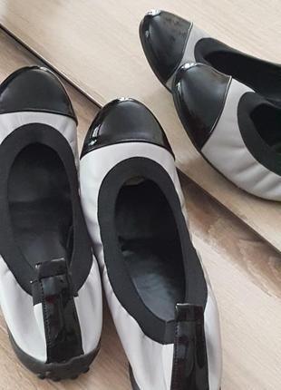 """Крутые испанские новые туфли/балетки """"bata"""" 39-40 разм"""