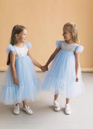 Святкова сукня для дівчинки голубого кольору мія 2