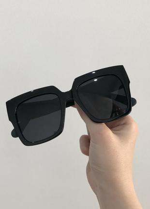 Большие широкие солнцезащитные солнечные очки с поляризацией, полароид, сонячні поляризовані сонцезахисні чорні окуляри полароїд