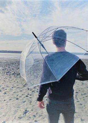 Стильный прозрачный зонт трость umbrella rain ☔️