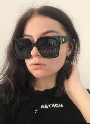 Широкие большие чёрные солнцезащитные солнечные очки с поляризацией, полароид поляризованные, чорні сонцезахисні окуляри полароїд