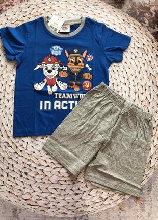 Костюм для хлопчика футболка шорти щенячий патруль