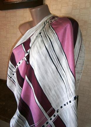 Красивый, винтажный платок из натурального шелка. kreier. швеция.