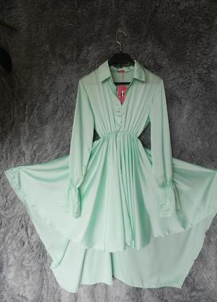 ✅ шикарное платье рубашка солнце из ткани шёлк армани