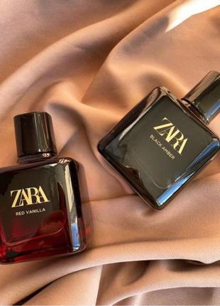 Zara black amber 100 ml + red vanilla 100 ml духи, парфуми