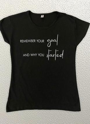 Молодежная футболка черного цвета
