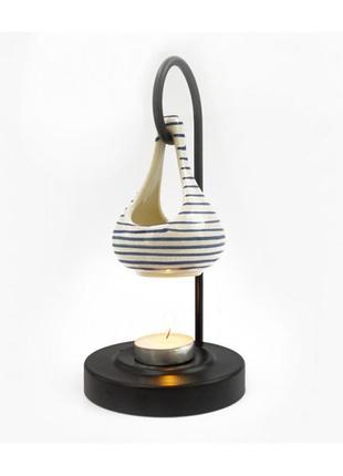Аромалампа керамическая на металлической подставке индия