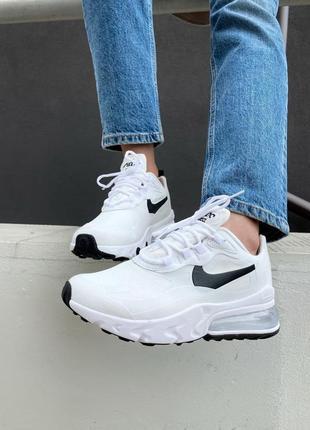 Стильные кроссовки nike air max react white black белые женские / мужские
