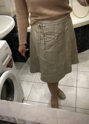 Льняная юбка трапеция , esprit