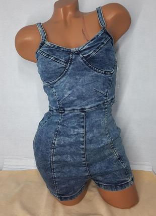 Комбинезон женский джинсовый, акция,  распродажа всего 300грн