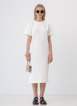Женское прямое owersize платье