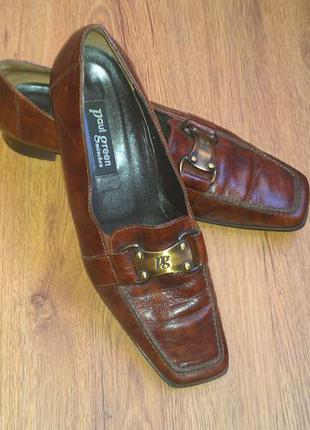 Кожаные туфли, лофери paul green 39 р