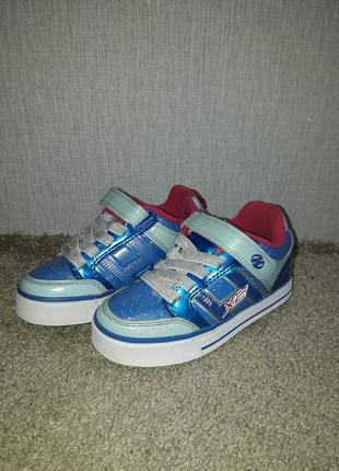 Роликовые кроссовки heelys bolt plus x2, размер 31, стелька 19,5 см.