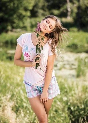 Женский комплект футболка и шорты key lns 792