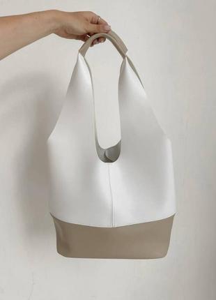 Большой вместительный шоппер сумка