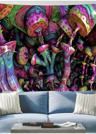 Картина текстильная гобелен грибы №5