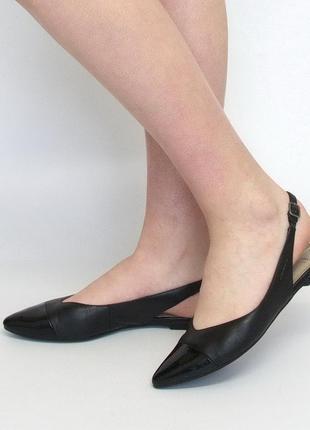 Кожаные босоножки, слингбэки, туфли vagabond, натуральная кожа.