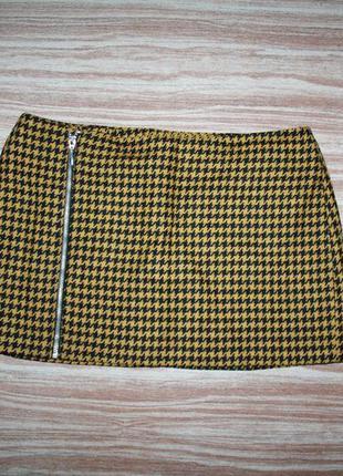 №16 стильная мини юбка  h&m