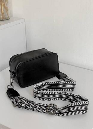 Маленькая сумка клатч на тканевом ремешке маленька я сумка жіноча