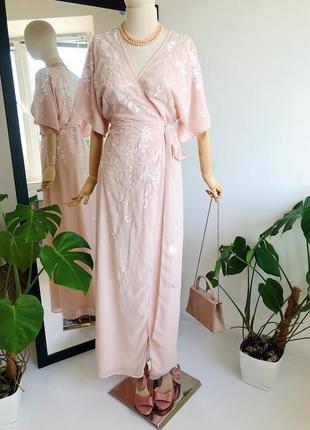 Платье миди. /вечернее платье/ платье кимоно