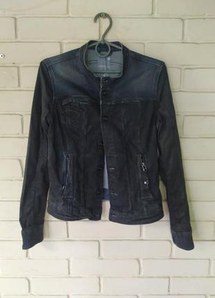 Джинсовый пиджак размер s