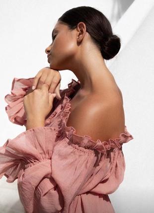 Блузка в етно стиле блуза со спущенными плечами блуза с драпировкой asos