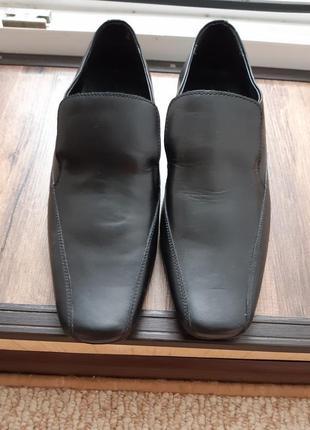 Мужские кожаные туфли 28см