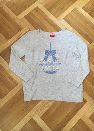 Батал большой размер тёплый мягкий зимний свитер свитерок праздничный новогодний