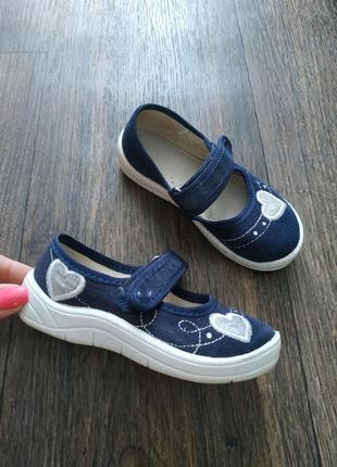Красивые тапочки 24р от waldi,оригинал, туфли, туфельки джинсовые