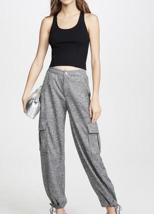 Женские штаны брюки карго kendall + kylie высокая талия