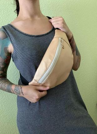 Распродажа /sale/скидка бананка сумка на пояс, сумка через плечо, городская в цвете золото