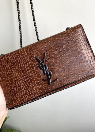 Шкіряна сумка- клатч, сумочка клатч кожаный клатч сумка через плечо  клатч на цепочке