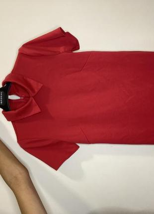 Червоне класичне плаття