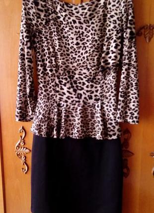 Тигрове плаття з баскою