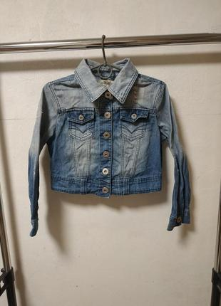 Джинсовый пиджак размер uk 10 наш 44*