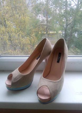 Нюдовые туфли kira plastinina