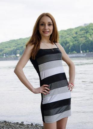 Фирменный сарафан, платье-бюстье в стразах kikiriki, р. s-m