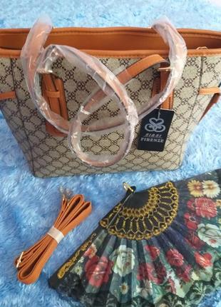 Чудова об'ємна сумка в принт+подарунок!