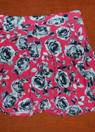 №66 стильная расклешенная мини юбка