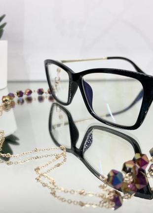 Цепочка держатель для очков золотистая с камнями ланцюжок для окулярів9 фото