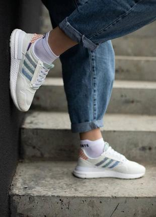 Шикарные женские кроссовки adidas zx 500 наложка