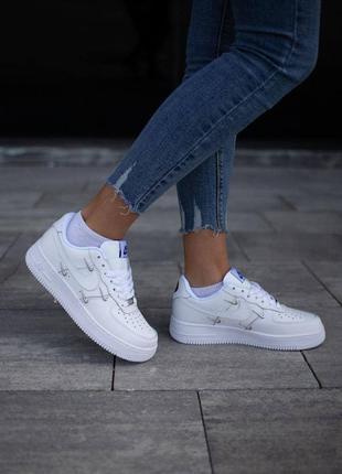Шикарные женские кроссовки nike air force 1 white  наложка