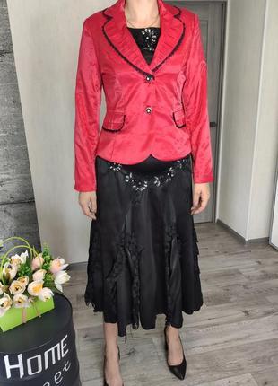 Костюм женский  3-ка с юбка, блузка, пиджак(0484)