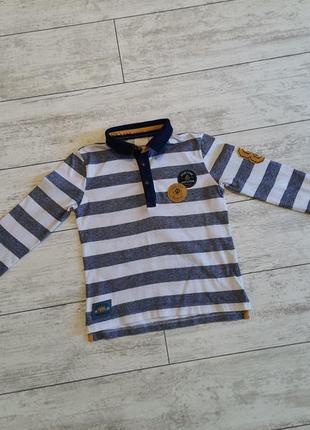 Полосатая , хлопковая кофта для мальчика 5-6 лет