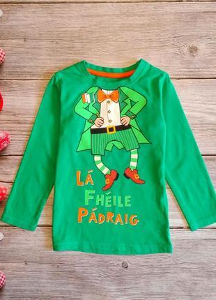 Реглан лонгслив футболка с длинными рукавами st.bernard на мальчика 2-3годика
