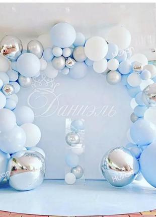 Арка из шаров фотозона сделай сам набор воздушных шариков 141 шт на детский день рождения