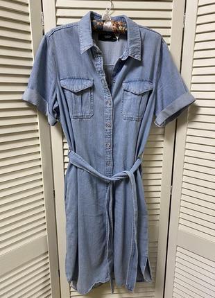 Стильное джинсовое платье миди от reserved(р.42/14)