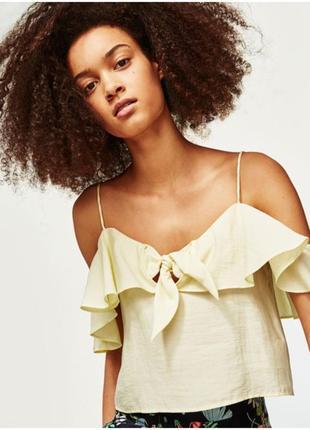 Топ с воланами 🔥zara🔥 лёгкая блузка блуза