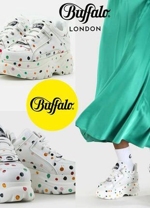 Кожаные кроссовки на платформе buffalo london оригинал