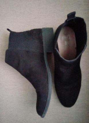 Ботинки челси из экозамша